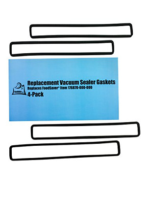 Replacement Gaskets 4 Foam Gaskets for FoodSaver - Fits FM2000, FM2010, FM2100,