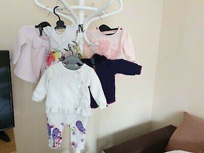 "Job Lot Clothing 5 pieces Baby Girl ""Ted Baker"" Different Size: 0- 6 Month Good"