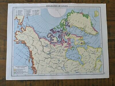 Exploration map of Canada From Cassells New Atlas