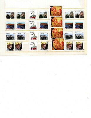 Canada Uncancelled postage, 28 x 'P' on paper Face Value $26  (ITEM X401)