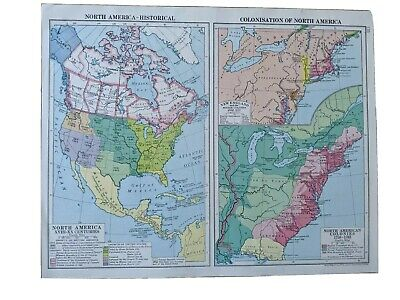 Historical map of North America From Cassells New Atlas