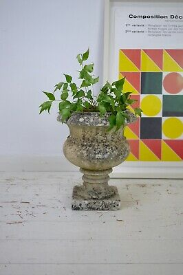 Antique Vintage Weathered Aged Marble Stone Garden Urn Finial Planter Pot A