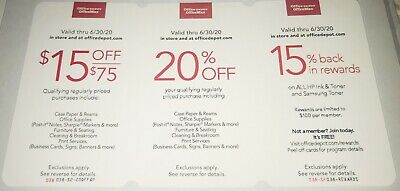 Office Depot OfficeMax Discount Coupons Exp. 6/30/20