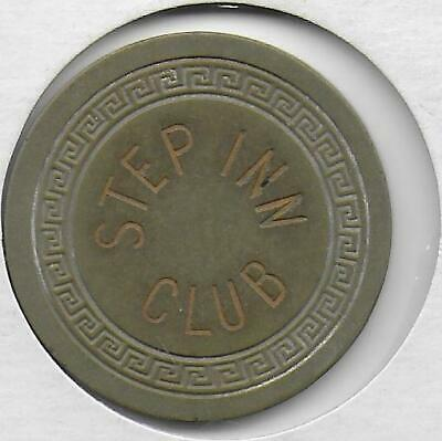 Obsolete $1 Illegal Casino Chip From STEP INN-Lawtell, La.-Closed-CG207245