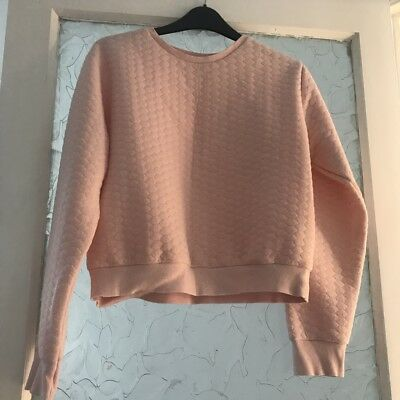 NewLook Girls Pink Crop Quilted Jumper, Aged 14-15 Years