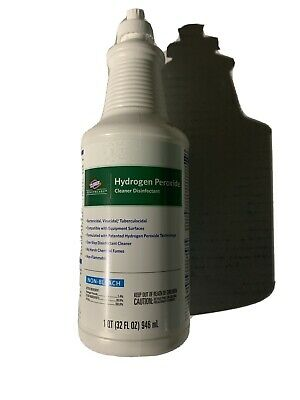 Clorox Healthcare Hydrogen Peroxide, Cleaner Disinfectant, 32 Fl Ounce