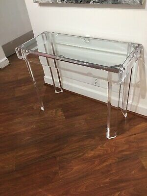 """Lucite Console Table - Mid Century Modern """"PICK UP ONLY"""""""