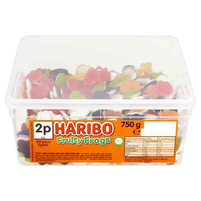 HARIBO Fruity Frogs - Full Tub 750g - Approx 300 sweets