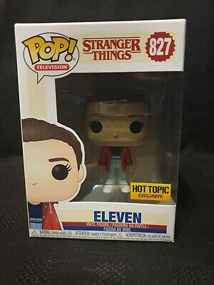 Funko Pop! Stranger Things Eleven W/slicker #827 Hot Topic Exclusive