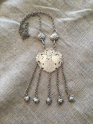 Vintage Miao Chinese silver necklace Talisman.