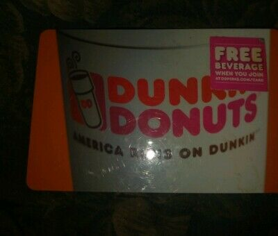 Dunkin' Donuts * Used Collectiable Gift Card No Value * FD-48363