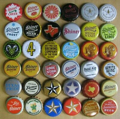 36 Different Texas Brews Current/Obsolete Micro Craft Beer Bottle Caps