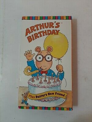 Arthur's Birthday Plus Busters New Friend Vintage VHS Tape