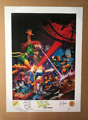 """""""X-Men"""" Lithograph Signed & Numbered By Joe Jusk O -Marvel Limited Poster"""