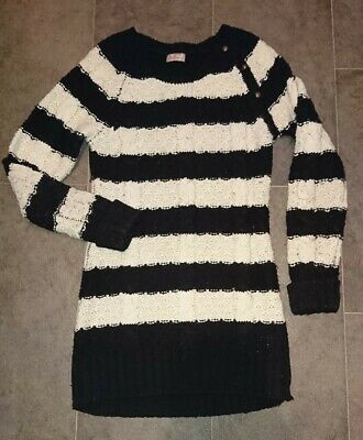 Next Girls Long Line Jumper. Age 11/12 years. Black and White. Great condition