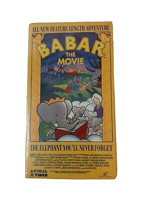 Babar The Movie VHS Brand New Sealed In Original Packaging vintage 1989