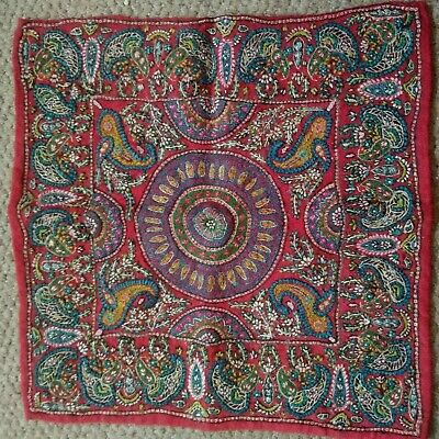 "Victorian / Edwardian Handmade Paisley Square Panel 16 x 16"" inches"