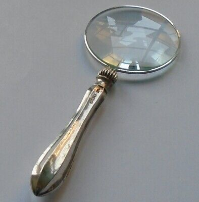 Yates Bros HM Silver Handle Magnifying Glass Sheffield 1922