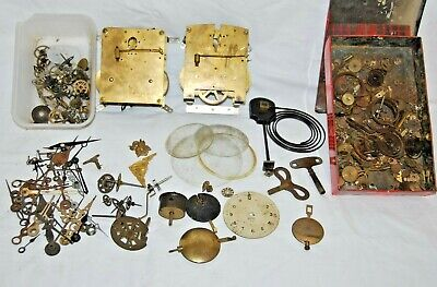 Collection of Antique Mantle Clock Parts