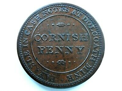 Cornish Penny - Stunning Grade - Payable in Notes at Dolcoath Mine
