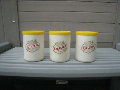 Vintage Falstaff Beer Styrofoam Can Koozies 3 Thermo Coolers