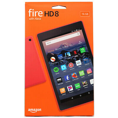 Amazon Fire HD 8 (8th Gen) 16 GB Wi-Fi 8-in w Alexa, Red ✨With Special Offers✨