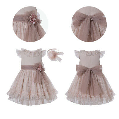 Girls Pleated Dresses Sleeveless Outfits Birthday Party Performance Summer Age 5