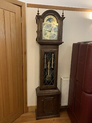 Grandfather Clock Solid Oak made by Fenclocks