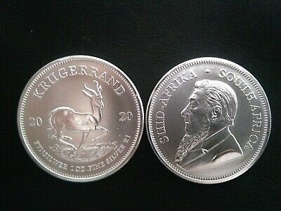 2020 1oz South African Krugerrand 1 ounce Silver Bullion Coin unc: