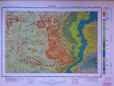 Geological Survey Map - Arlesford - 1975 - Drift geology - Lovely old map