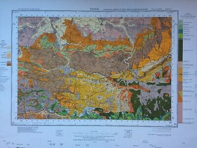 Geological Survey Map - Yeovil - 1973 - Solid and drift - Lovely old map