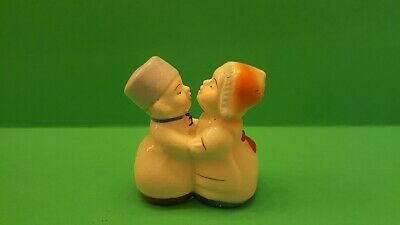 One Piece Dutch Boy and Girl Salt and Pepper Shakers