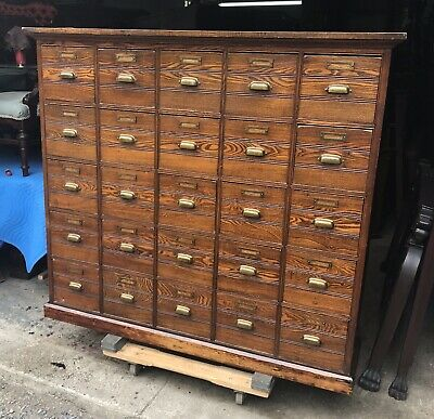Antique 25 Drawer Apothecary Cabinet