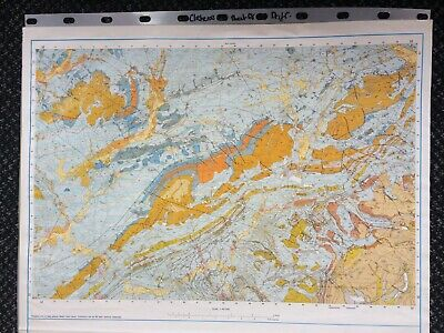 Geological Survey Map - Clitheroe - 1975 - Drift Geology - Lovely old map