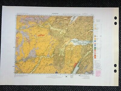 Geological Survey Map - Inverness - 1990 reprint - Solid Geology- Lovely old map
