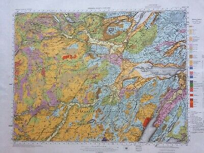 Geological Survey Map - Inverness - 1954 -Solid and drift geology-Lovely old map