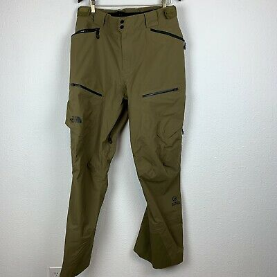The North Face Mens Purist Pants L Long Steep Series Goretex Olive Snow