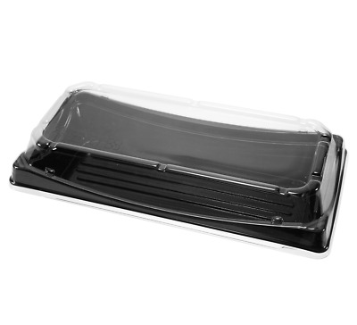 """300-pack PET To-go Sushi Container with Lid Rectangle Serving Trays 7.5 * 4.5"""""""