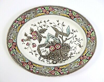 Antique Wedgwood Beatrice Ivory Colored Transferware Ceramic Serving Dish Plate