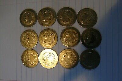 VINTAGE CAR AUTO  RYKO CAR WASH TOKEN COIN Lot 12x from Shell Station
