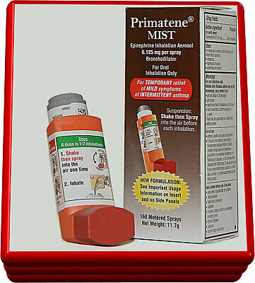 Primatene Mist Epinephrine Inhalation Aerosol 160 Metered  Sprays Exp.04/2021+