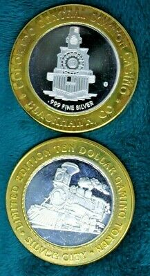 Collection Of 2 Train Themed $10 Silver Strikes, .999 Fine Silver