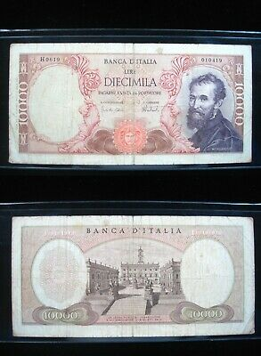 Italy 10000 Lire 1962 P97 19# Currency Bank Banknote Money