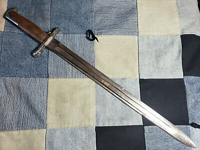 Near Mint Original Wwi Us Springfield M1905 Bayonet 1913 Honor Guard Chrome