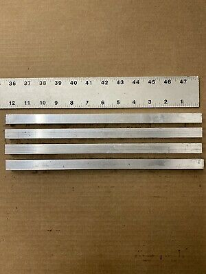 "4 Pieces 5/8""x5/8"" ALUMINUM 12"" Long 6061 Square Flat Bar Solid T6511 New Mill"