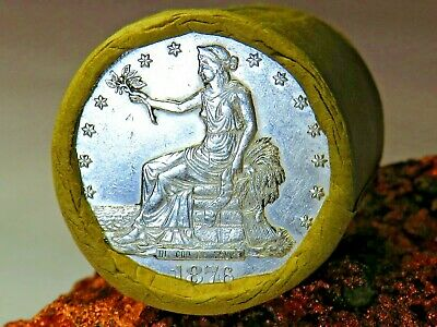 1876 Top Quality Trade End / Cameo 1880 Top Q End Morgan Dollar Roll$20 #Mm642