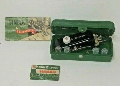 Vintage Singer  Sewing Machine Buttonholer 160506 manual Templates Parts