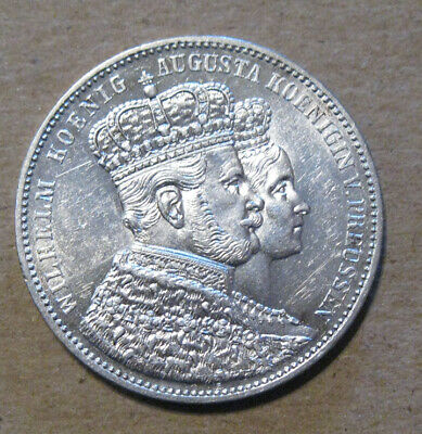 Prussia (Germany) - 1861 Coronation Thaler - Nice Coin