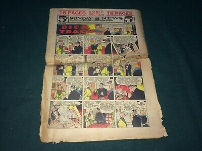 May 30, 1937 New York Sunday News COMIC SECTION Dick Tracy, Annie, The Gumps VTG
