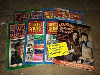 "Lot of 8 ""Country Song Roundup"" Magazines VTG Music~Buck Owens, Glenn Campbell +"